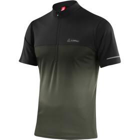 Löffler Flow Koszulka kolarska, krótki rękaw Mężczyźni czarny/petrol